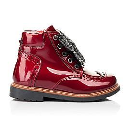 Детские демисезонные ботинки Woopy Orthopedic красные для девочек натуральная лаковая кожа размер 25-26 (7111) Фото 4