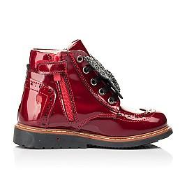 Детские демисезонные ботинки Woopy Orthopedic красные для девочек натуральная лаковая кожа размер 25-26 (7111) Фото 5