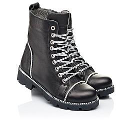 Детские демисезонные ботинки Woopy Fashion черные для девочек натуральная кожа размер 33-40 (7112) Фото 1