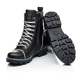 Детские демисезонные ботинки Woopy Fashion черные для девочек натуральная кожа размер 33-40 (7112) Фото 2