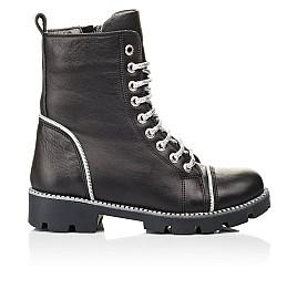 Детские демисезонные ботинки Woopy Fashion черные для девочек натуральная кожа размер 33-40 (7112) Фото 4