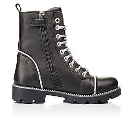 Детские демисезонные ботинки Woopy Fashion черные для девочек натуральная кожа размер 33-40 (7112) Фото 5