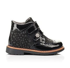 Детские демисезонные ботинки Woopy Orthopedic черные для девочек натуральная лаковая кожа и нубук размер 22-35 (7115) Фото 4