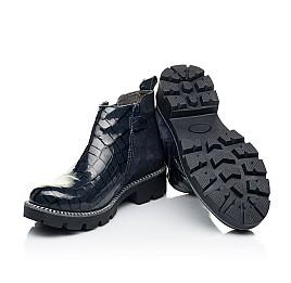 Детские демисезонные ботинки Woopy Orthopedic черные для девочек натуральная лаковая кожа и замша размер 28-39 (7116) Фото 2