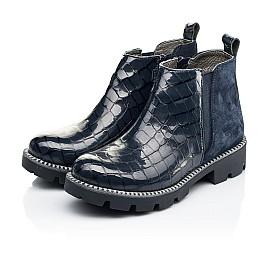 Детские демисезонные ботинки Woopy Orthopedic черные для девочек натуральная лаковая кожа и замша размер 28-39 (7116) Фото 3