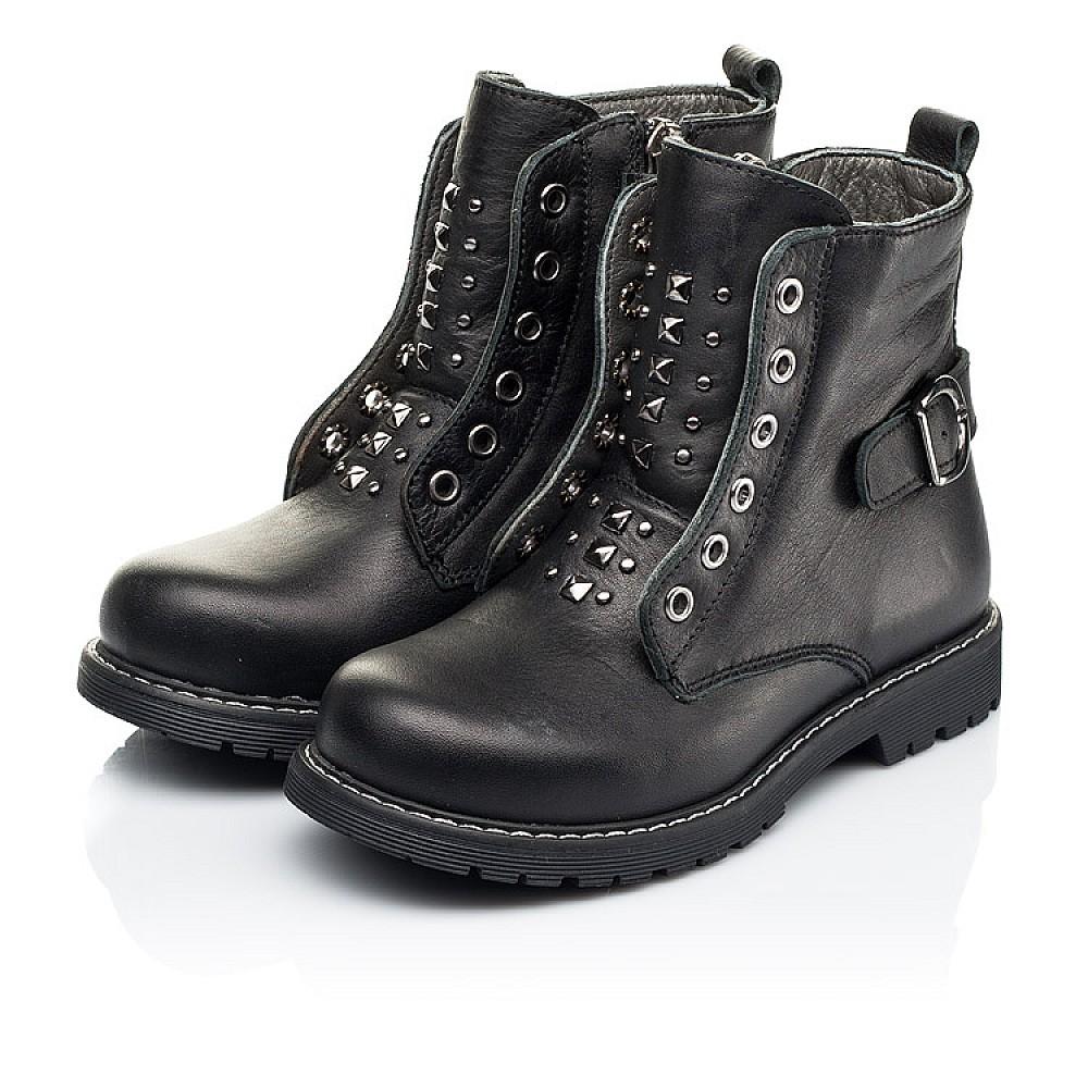 Детские демисезонные ботинки Woopy Orthopedic черные для девочек натуральная кожа размер 24-34 (7117) Фото 3