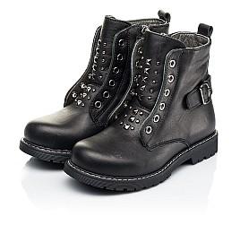 Детские демисезонные ботинки Woopy Orthopedic черные для девочек натуральная кожа размер 24-32 (7117) Фото 3