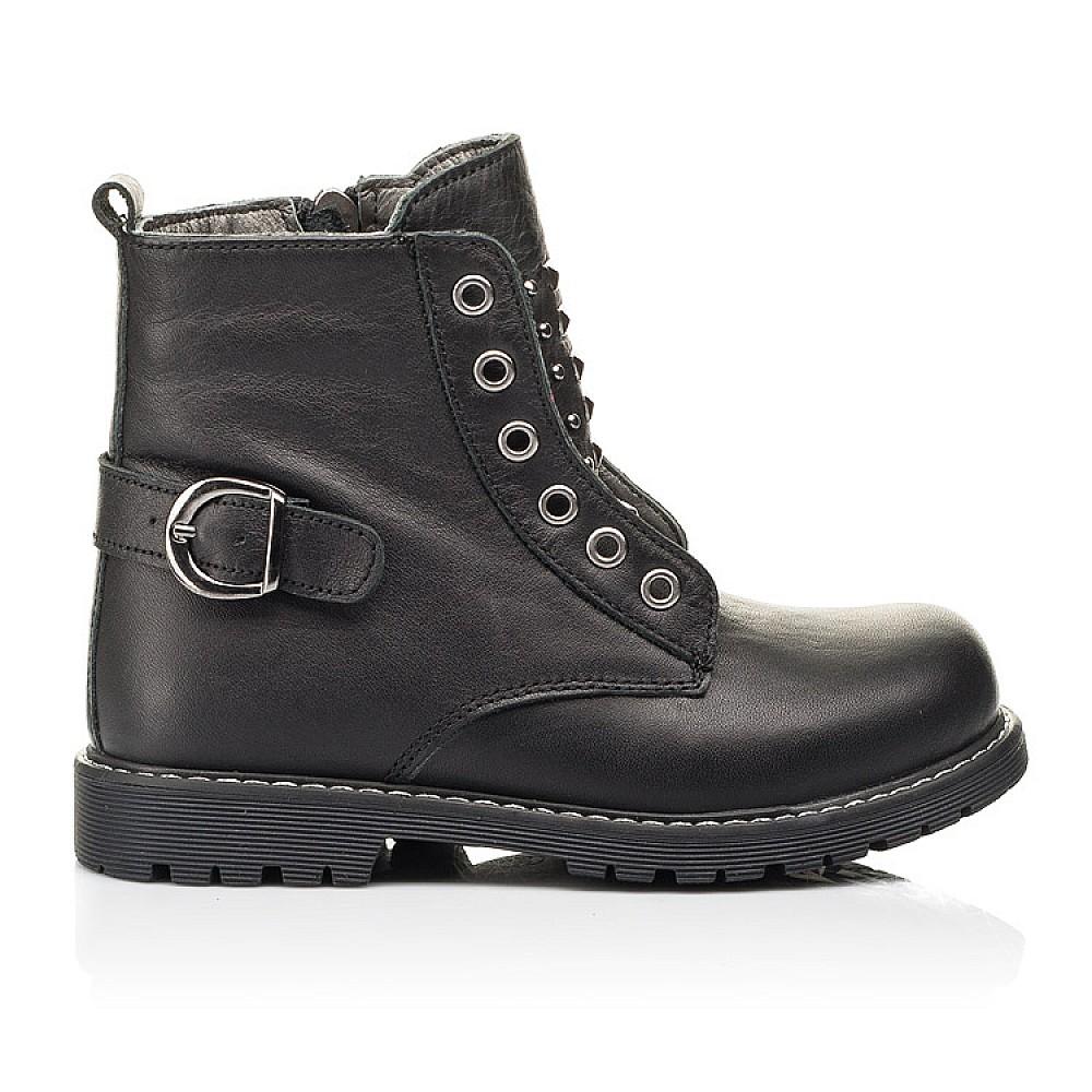 Детские демисезонные ботинки Woopy Orthopedic черные для девочек натуральная кожа размер 24-34 (7117) Фото 4