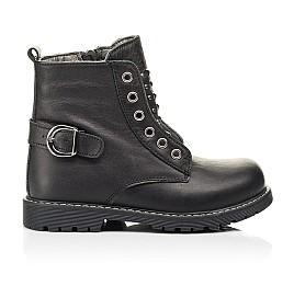 Детские демисезонные ботинки Woopy Orthopedic черные для девочек натуральная кожа размер 24-32 (7117) Фото 4