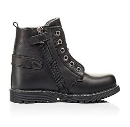 Детские демисезонные ботинки Woopy Orthopedic черные для девочек натуральная кожа размер 24-32 (7117) Фото 5