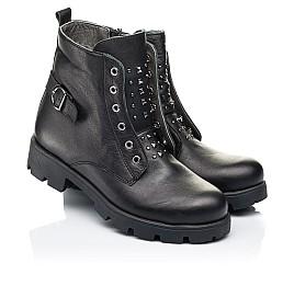 Детские демисезонные ботинки Woopy Fashion черные для девочек натуральная кожа размер 33-40 (7118) Фото 1