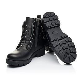 Детские демисезонные ботинки Woopy Fashion черные для девочек натуральная кожа размер 33-40 (7118) Фото 2