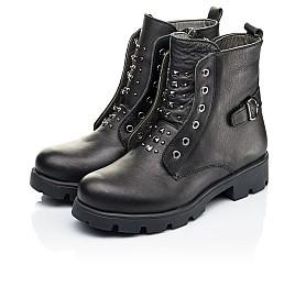 Детские демисезонные ботинки Woopy Fashion черные для девочек натуральная кожа размер 33-40 (7118) Фото 3