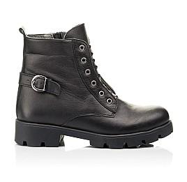 Детские демисезонные ботинки Woopy Fashion черные для девочек натуральная кожа размер 33-40 (7118) Фото 4