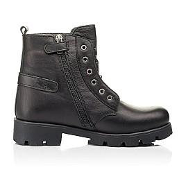 Детские демисезонные ботинки Woopy Fashion черные для девочек натуральная кожа размер 33-40 (7118) Фото 5