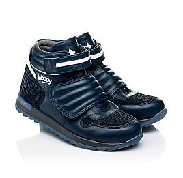 Детские демисезонные ботинки Woopy Fashion синие для мальчиков натуральная кожа размер 21-40 (7120) Фото 1