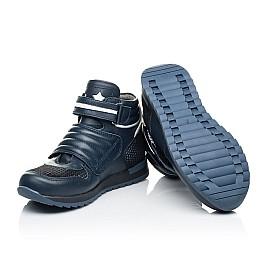 Детские демисезонные ботинки Woopy Fashion синие для мальчиков натуральная кожа размер 21-40 (7120) Фото 4