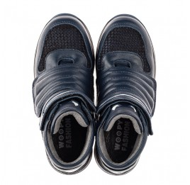 Детские демисезонные ботинки Woopy Fashion синие для мальчиков натуральная кожа размер 21-40 (7120) Фото 5