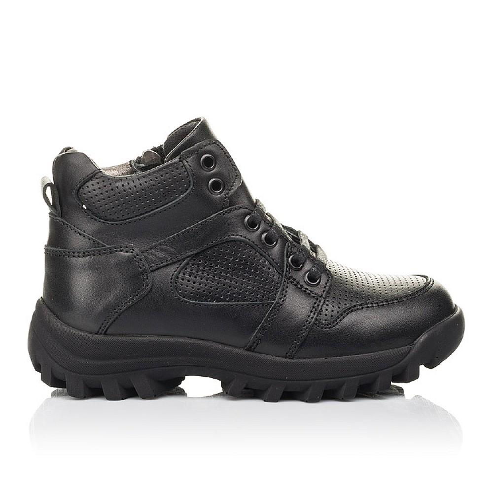 Детские демисезонные ботинки Woopy Fashion черные для мальчиков натуральная кожа размер 31-40 (7121) Фото 4