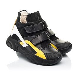 Детские демисезонные ботинки Woopy Fashion темно-синий для мальчиков натуральная кожа и замша размер 26-40 (7123) Фото 1
