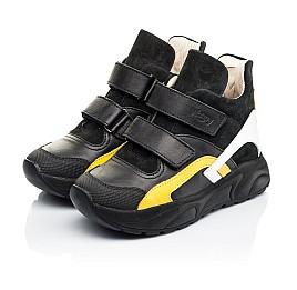 Детские демисезонные ботинки Woopy Fashion темно-синий для мальчиков натуральная кожа и замша размер 26-40 (7123) Фото 3