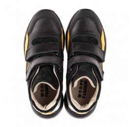 Детские демисезонные ботинки Woopy Fashion темно-синий для мальчиков натуральная кожа и замша размер 26-40 (7123) Фото 5