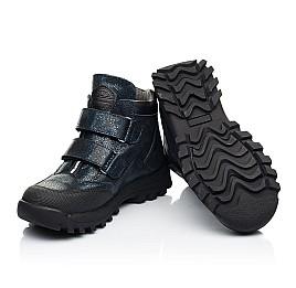 Детские демисезонные ботинки Woopy Fashion синие для девочек натуральный нубук размер 21-38 (7124) Фото 2