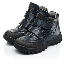 Детские демисезонные ботинки Woopy Fashion синие для девочек натуральный нубук размер 21-38 (7124) Фото 3