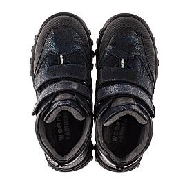 Детские демисезонные ботинки Woopy Fashion синие для девочек натуральный нубук размер 21-38 (7124) Фото 5