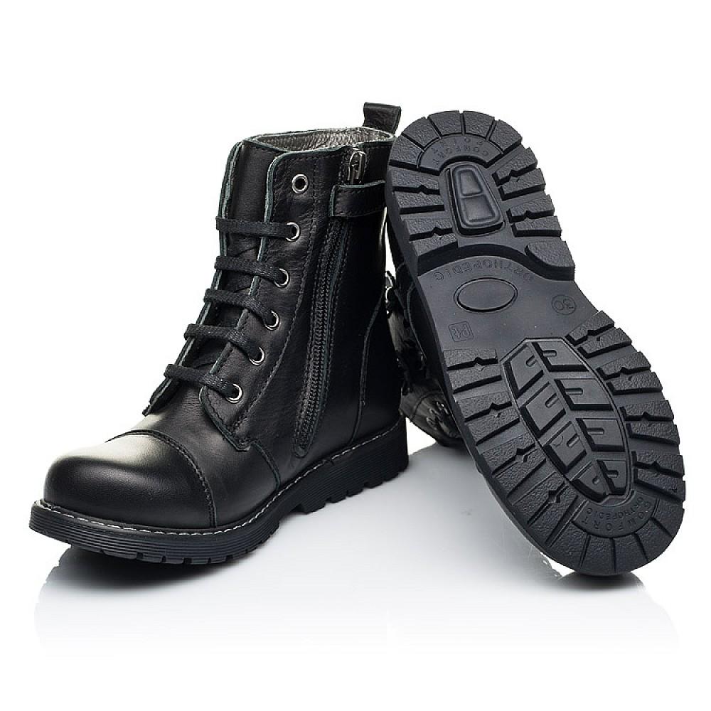 Детские демисезонные ботинки Woopy Fashion черные для девочек натуральная кожа размер 26-38 (7125) Фото 2
