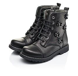 Детские демисезонные ботинки Woopy Fashion черные для девочек натуральная кожа размер 26-38 (7125) Фото 3
