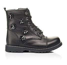 Детские демисезонные ботинки Woopy Fashion черные для девочек натуральная кожа размер 26-38 (7125) Фото 4