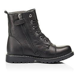 Детские демисезонные ботинки Woopy Fashion черные для девочек натуральная кожа размер 26-38 (7125) Фото 5
