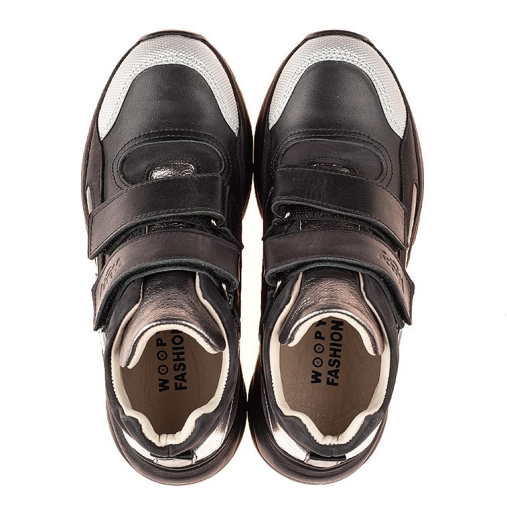 Детские демисезонные ботинки Woopy Fashion черные для девочек натуральная кожа размер 26-40 (7126) Фото 5