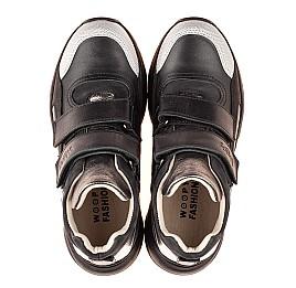 Детские демисезонные ботинки Woopy Fashion черные для девочек натуральная кожа размер 27-40 (7126) Фото 5