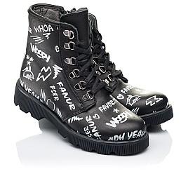 Детские демисезонные ботинки Woopy Orthopedic черные для девочек натуральная кожа размер 29-40 (7127) Фото 1