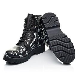 Детские демисезонные ботинки Woopy Orthopedic черные для девочек натуральная кожа размер 29-40 (7127) Фото 2