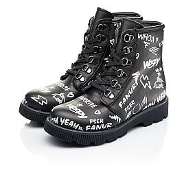 Детские демисезонные ботинки Woopy Orthopedic черные для девочек натуральная кожа размер 29-40 (7127) Фото 3