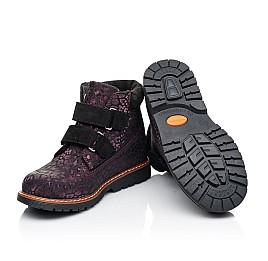 Детские демисезонные ботинки Woopy Fashion бордовые для девочек натуральный нубук размер 26-39 (7128) Фото 2