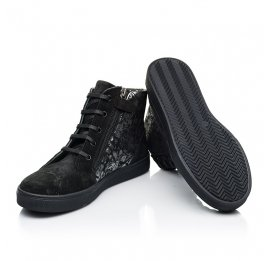 Детские демисезонные ботинки Woopy Fashion черные для девочек натуральная замша размер 29-39 (7129) Фото 2