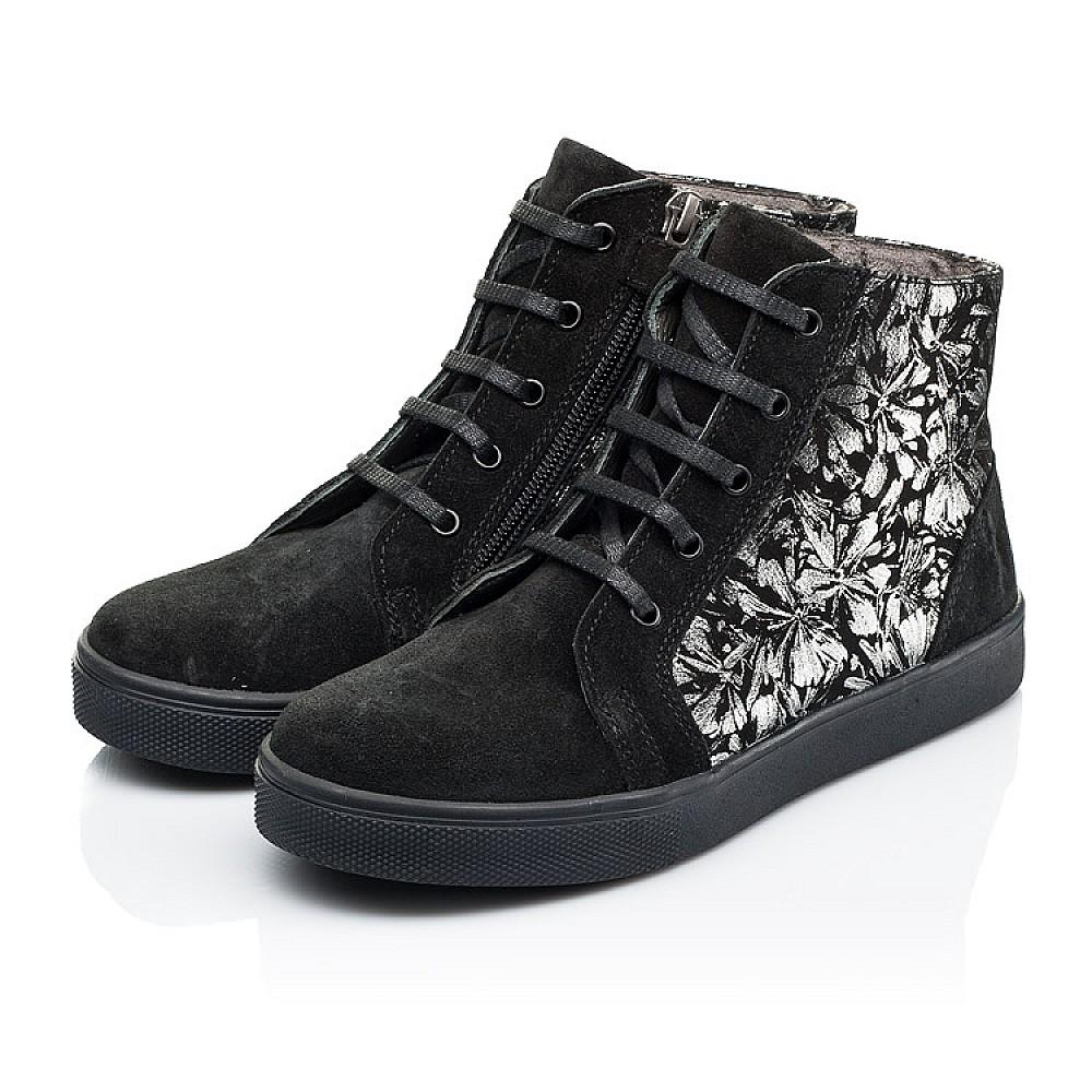 Детские демисезонные ботинки Woopy Fashion черные для девочек натуральная замша размер 29-39 (7129) Фото 3