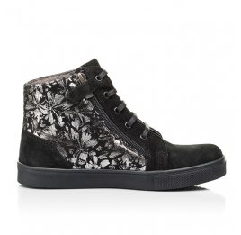 Детские демисезонные ботинки Woopy Fashion черные для девочек натуральная замша размер 29-39 (7129) Фото 5