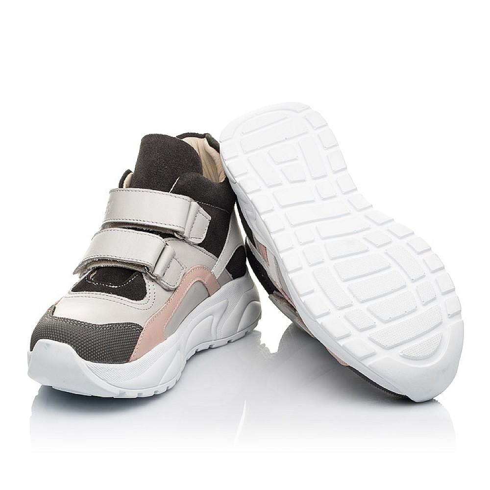 Детские демисезонные ботинки Woopy Fashion серые для девочек натуральная кожа и замша размер 27-40 (7130) Фото 2