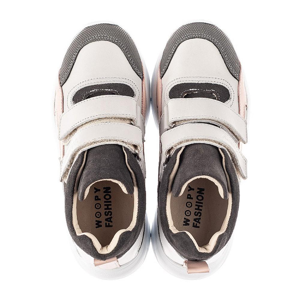 Детские демисезонные ботинки Woopy Fashion серые для девочек натуральная кожа и замша размер 27-40 (7130) Фото 5