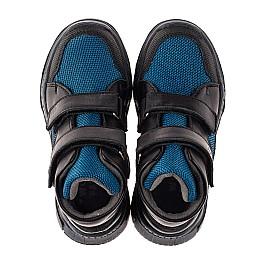 Детские демисезонные ботинки Woopy Fashion синие для мальчиков натуральная кожа, искусственный материал  размер 26-30 (7133) Фото 2