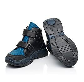Детские демисезонные ботинки Woopy Fashion синие для мальчиков натуральная кожа, искусственный материал  размер 26-30 (7133) Фото 3