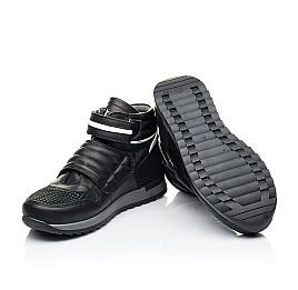 Детские демисезонные ботинки Woopy Fashion черные для мальчиков натуральная кожа размер 26-39 (7134) Фото 2