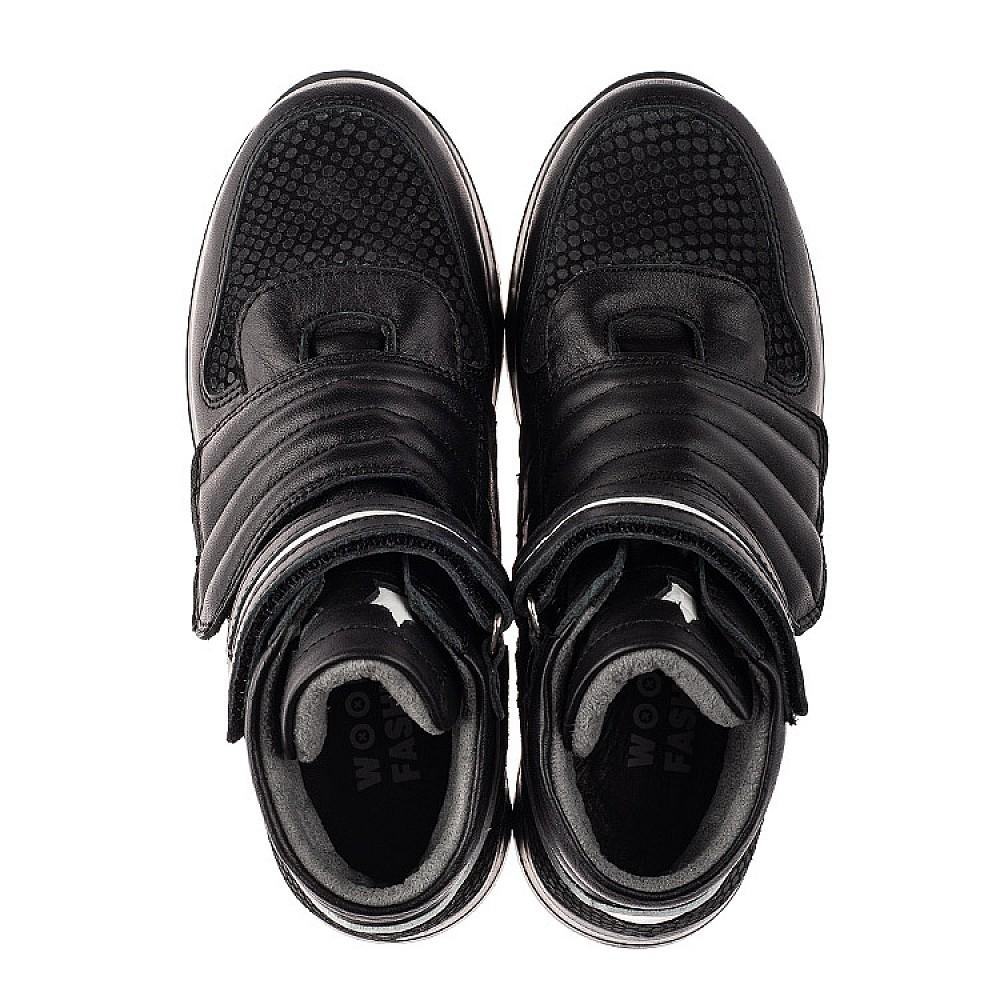 Детские демисезонные ботинки Woopy Fashion черные для мальчиков натуральная кожа размер 26-40 (7134) Фото 5