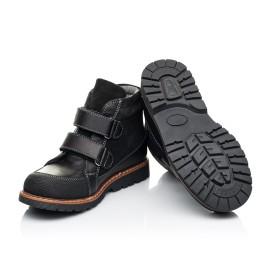 Детские демисезонные ботинки Woopy Fashion черные для мальчиков натуральная кожа и замша размер 21-39 (7135) Фото 2