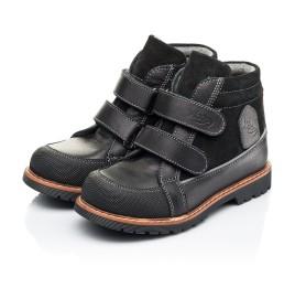 Детские демисезонные ботинки Woopy Fashion черные для мальчиков натуральная кожа и замша размер 21-39 (7135) Фото 3